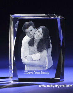 3D laser Photo Wedding Favors Crystal Personalized Gifts