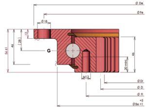 Rios. 22 0641 SKF Rolamentos do anel giratório flangeado com uma engrenagem interna
