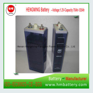 Baterías de Níquel Cadmio recargable de 1,2V 100Ah para sistema de alimentación de reserva