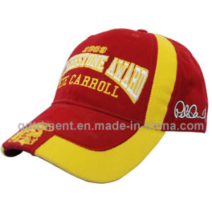 100% algodão escovado Sarjado Bordados Baseball Hat Cap (TRB060-2)