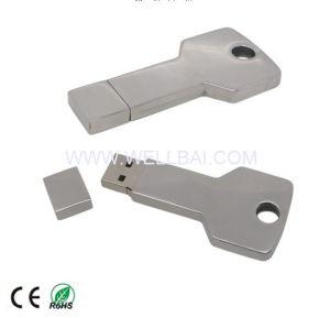 Металлический ключ USB флэш-диск с Гравировка логотипа для поощрения