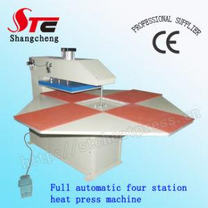 フルオートマチックのTシャツの熱伝達機械4端末の空気の熱の出版物機械StcQd03