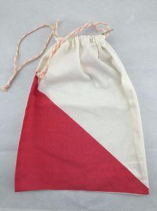 Branco ou Cor Natural 100% algodão saco para roupa suja com impressão