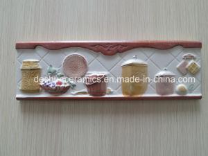 De decoratieve Verglaasde Rustieke Ceramische Tegel van de Muur voor Keuken