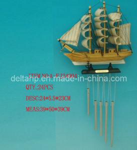 L'artisanat en bois, voilier avec Wind Bells (DTA-FJ24004)