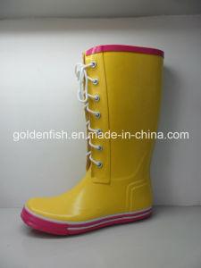 Mode Femmes Bottes de pluie avec Shoelace pour Rainy/Jours de neige