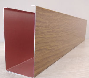 Китай оптовой U-Газа Деревянные зерна алюминиевого отражателя потолок строительные материалы