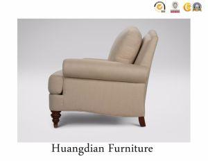 Un design simple de toile de lin canapé 2 places pour la salle de séjour utilisés (HD148)