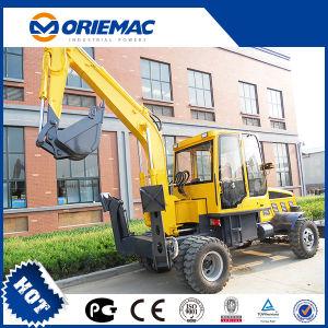 Mini excavador hidráulico de Yugong Wyl4.8 del excavador de la rueda