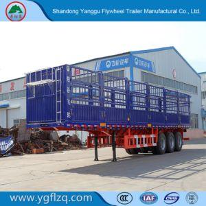 De nieuwe Semi Aanhangwagen van de Staak van het Type van Omheining van 3 Assen voor Vervoer van de Lading stortgoed