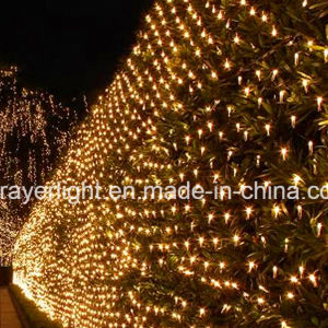 Warme weiße helle Weihnachtsnettodekorationen der Farben-LED