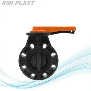 手動ハンドルのRppのANSI&Lug Plastic弁水弁の産業弁によるプラスチック蝶弁