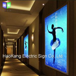 L'aluminium boîte lumineuse à LED SNAP Frame Picture Frame signe pour l'affichage de publicité à montage mural