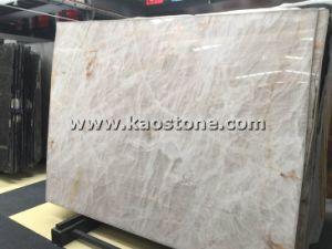 床または壁のための自然な磨かれた白い水晶平板のオニックスか大理石