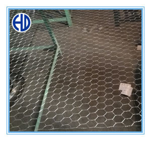 Rete metallica esagonale rivestita di plastica