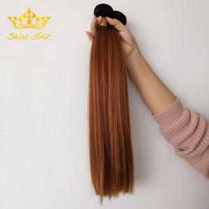 Commerce de gros Virgin Cheveux humains dans la #1B/30 Couleur directement de la soie