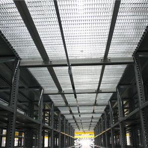 Stahlplattform mit galvanisierter Vergitterung
