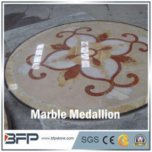 Haut de Gamme Médaillon en carrelage de sol en marbre et le médaillon de bord