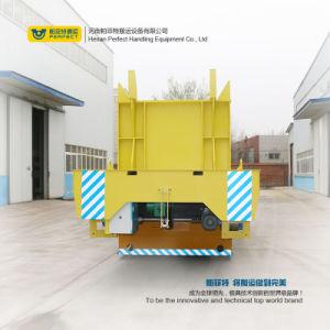 Trattamento materiale d'acciaio di trasferimento del veicolo su rotaie delle 10 bobine di tonnellata