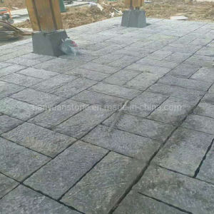 Superfície Chiseled Pedra Azul Mosaico pavimentos exteriores de calcário