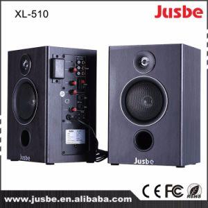 Jusbe XL-510 40With4ohmの無線マイクロフォンReveiverが付いている教授のホーム可聴周波サウンド・システムのモニタ2.0のスピーカーボックス