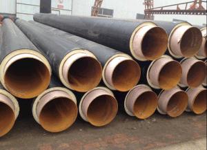 Tubi d'acciaio isolati termici superiori della gomma piuma di poliuretano del fornitore