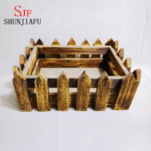Изготовленный на заказ суккулентный плантатор деревянной коробки, крытые декоративные деревянные баки завода