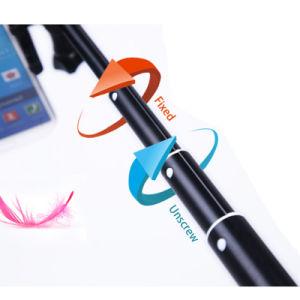 1つの小型の拡張可能なアルミ合金Monopodに付きiPhone 3つのためのBluetoothのリモートが付いているSelfieの棒の三脚