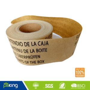 Goma de mascar de una sola cara Kraft, cinta de papel para caja de embalaje