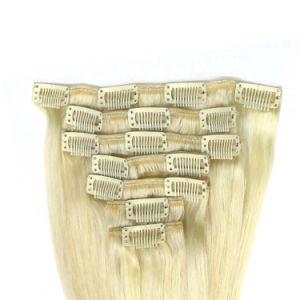 """16"""" #613 Clip de Remy extensiones de cabello rubio directamente 7pcs"""