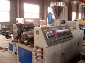 La extrusora doble tornillo extrusora de plástico de PVC tubería de PVC que hace la máquina