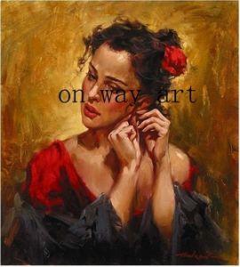 OilHand het gemaakte Schilderen van het Olieverfschilderij van de Impressionist van het Portret (op-04)