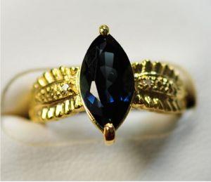 Anello d'argento 925 con il Topaz blu di Lodon (LBT0027)