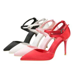 Nouveau Womens Lady's sandales fait Buckl Stiletto High Heels Chaussures creux