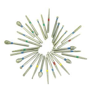 Fabricante de suministros dentales el dentista Diamond rebabas taladrar