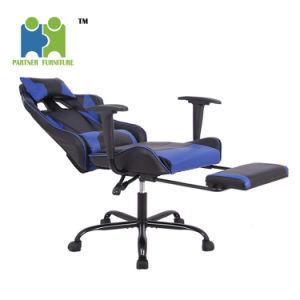 (Ana) Partner Capa de couro PU moderno Secretária Office cadeira jogos com apoio lombar, cor preta e vermelha