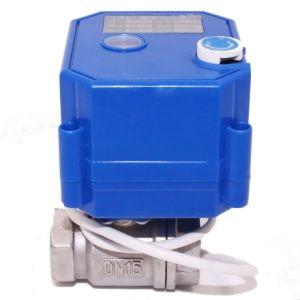 Mini-o Atuador Elétrico da Válvula de esfera de controle com função de cancelamento manual Dn8 DN10 DN15 DN20 DN25 DN32 Bronze para uso inteligente