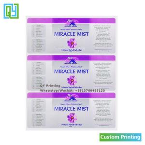 Custom печати необходимо упаковки флакона духов наклеек