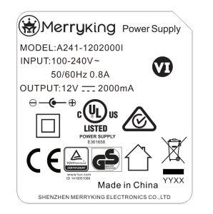 24W All-Powerful Adaptador de CA con UL/cUL/FCC/Ce/GS/BS/Ce/AEA/PSE/CCC Más de 14 años de experiencia