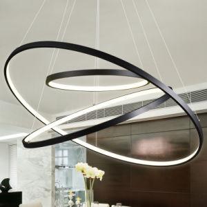 Venda por grosso Anéis Redondo LED acrílico travando luz pendente para Home