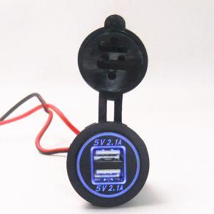 DC 12-24V 4.2A toma de corriente cargador USB Dual con luz indicadora LED para Alquiler de Barco de motocicletas Marine