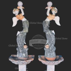 Стороны резные мраморные статуи Леди скульптуры для сада украшения
