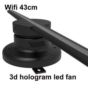 ologramma 3D che fa pubblicità al controllo della scheda di deviazione standard del ventilatore del LED, pubblicità del ventilatore del reticolo 3D di colore acquistabile e completo