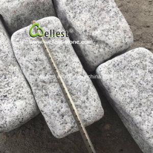 Откинуть покрытие светло-серый гранит вымощены булыжником камня в патио асфальтирование