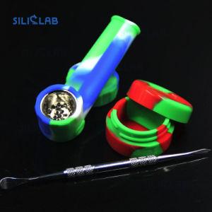帽子ボールのタバコフィルターホールダーが付いている携帯用シリコーンの煙る管タバコ手の管