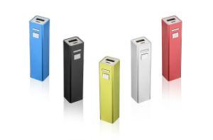 Don metálico de aluminio portátil de tamaño pequeño banco de potencia 2600 mAh