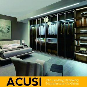 Venda por grosso de estilo simples e moderno quarto porta articulada guarda-roupa de madeira (SCA3-H05)