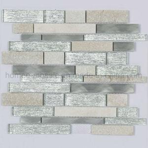Nouvelle texture argenté brillant effet décoration murale tuile mosaïque de verre