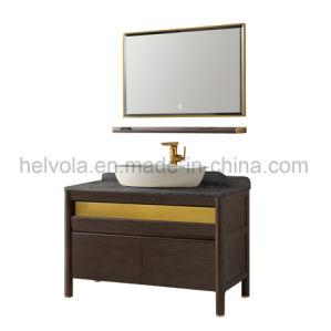 Gesundheitlicher Ware-Badezimmer-Bassin-Zubehör-Schrank-festes Holz Kurbelgehäuse-BelüftungMDF mit Spiegel-Edelstahl-Badezimmer-Möbel-Badezimmer-Eitelkeit 15