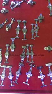 Broche de mariposa de acero inoxidable Reloj de Cuero Cierre de la banda de Fe-DC03